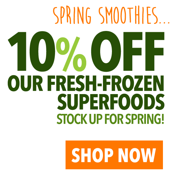 10% OFF Fresh-Frozen Superfoods