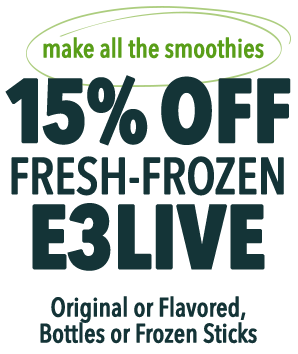 15% OFF fresh-frozen E3Live Original