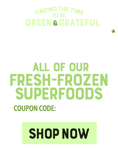 10% OFF FRESH-FROZEN SUPERFOODS at E3LIVE