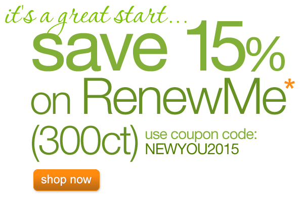 15% OFF RenewMe for a limited time