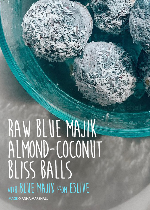 RAW BLUE MAJIK ALMOND COCONUT BALLS