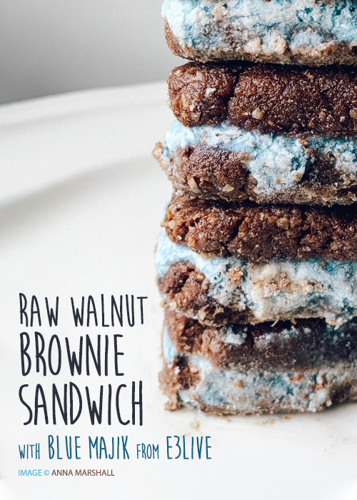RAW WALNUT BROWNIE SANDWICH