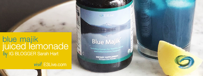 BLUE MAJIK JUICED LEMONADE/ by Sarah Hart of YouCookBeautiful