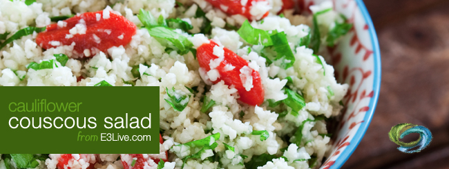 cauliflower couscous salad / from E3Live