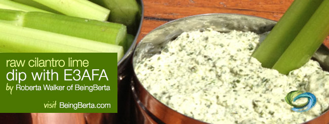 Raw Cilantro Lime Dip with E3AFA / from Being Berta