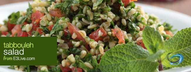 e3live tabbouleh salad / from E3Live