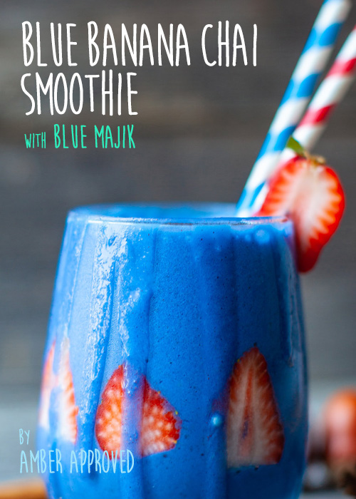 Blue Banana Chai Smoothie