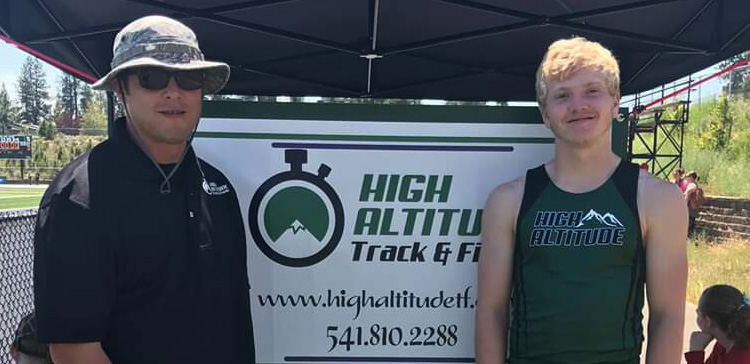 High Altitude Track and Field Coach Doug Werner and Carringer
